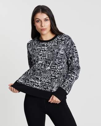 DKNY Graffiti Print Boxy Pullover