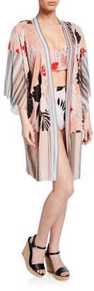 Fuzzi Patchwork Tulle Kimono