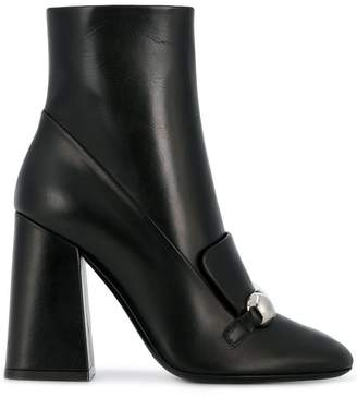 Burberry Studded Bar Detail ankle boots