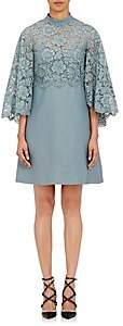 Valentino Women's Lace-Cape Shift Dress - Lt. Blue