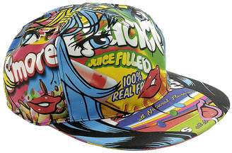 Moschino Couture Hat Cap Moschinoeyes Capsule Collection With Rigid Cotton Visor With Pop Art Print