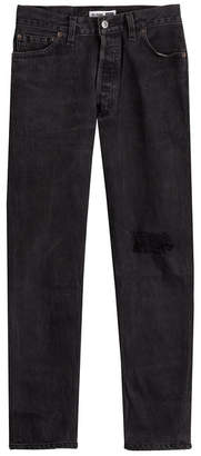 RE/DONE High Rise Jeans with Distressed Detail