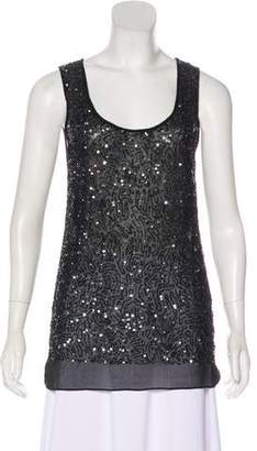 Gold Hawk Sleeveless Sequin Top