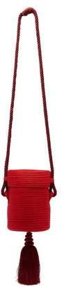 Rebecca De Ravenel - Farida Straw Tassel Bag - Womens - Red