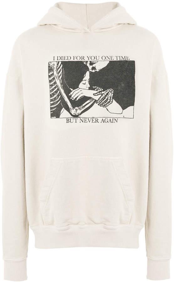 Rhude graphic print hoodie