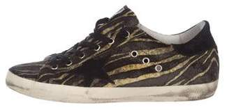 Golden Goose Velvet Low-Top Sneakers
