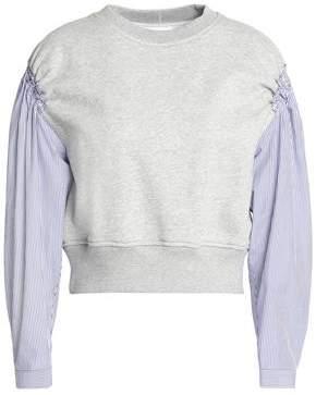 3.1 Phillip Lim Striped Poplin-Paneled Cotton-Jersey Top