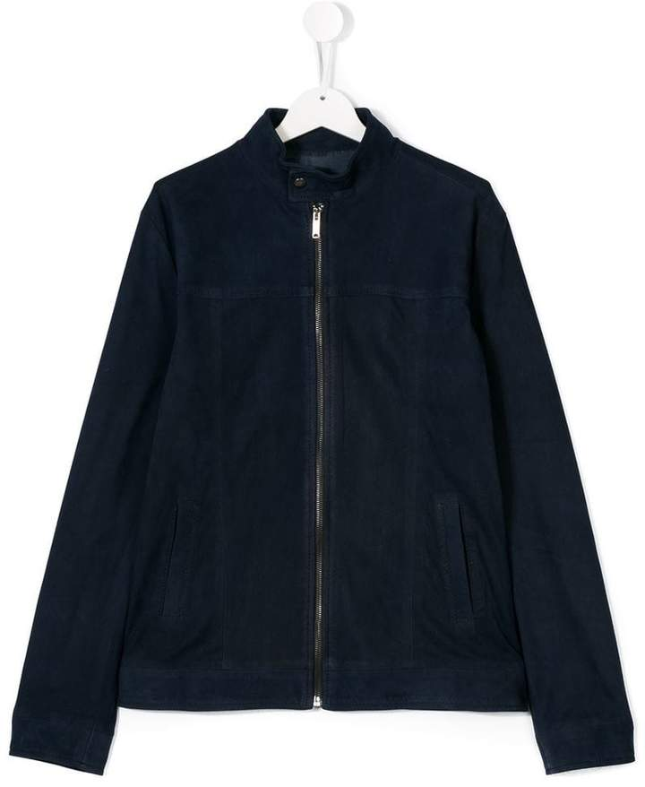 Dondup Kids leathr zip jacket