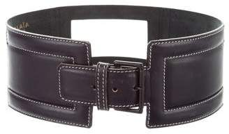 Alaia Wide Leather Hip Belt
