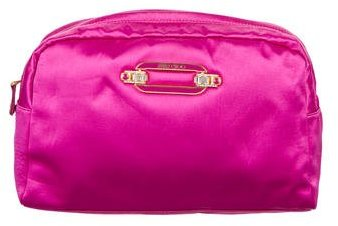 Jimmy Choo Jimmy Choo Crystal Embellished Satin Cosmetic Bag