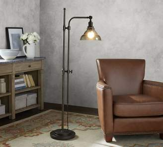 Pottery Barn PB Classic Articulating Floor Lamp with Vintage Glass Shade