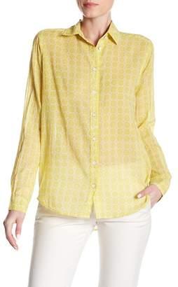 Velvet by Graham & Spencer Pattern Detail Button Shirt