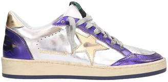 Golden Goose Ball Star Purple Silver Sneakers
