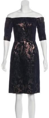 J. Mendel Off-The-Shoulder Knee-Length Dress