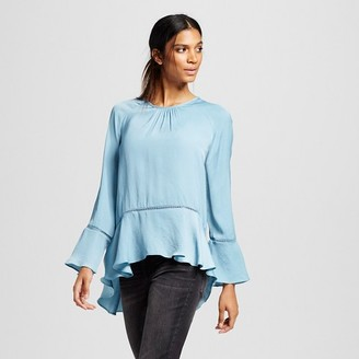 Women's Long Sleeve Peplum Blouse - Mossimo $22.99 thestylecure.com