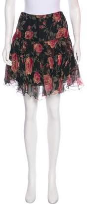 Ralph Lauren Black Label Floral Print Mini skirt