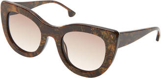 Alice + Olivia Delancey Cat-Eye Sunglasses