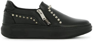 Les Hommes slip-on studded sneakers