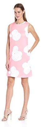Tommy Hilfiger Women's Paper Rose Scuba Shift Dress $129 thestylecure.com