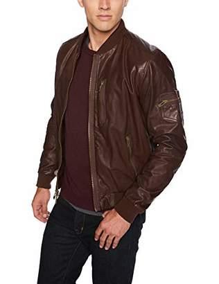 Rogue Men's Super Soft New Zealand Lamb Leather Zip Bomber Jacket