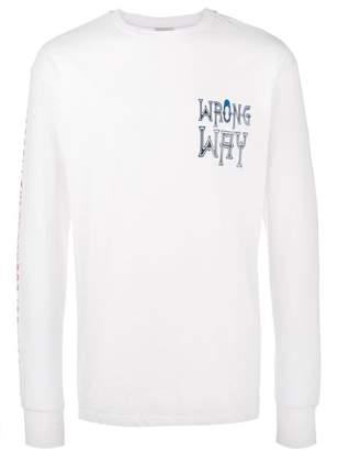Ex Infinitas Wrong Way print long sleeve t-shirt
