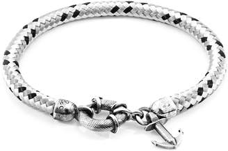 ANCHOR & CREW - Grey Dash Salcombe Silver & Rope Bracelet