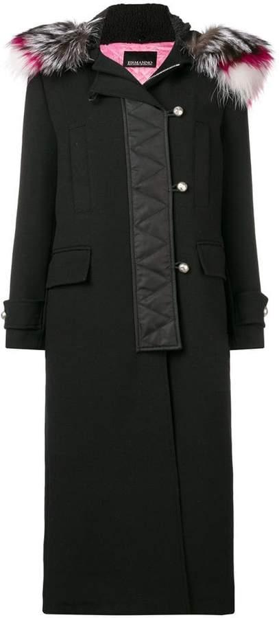 Ermanno Ermanno zipped up long coat