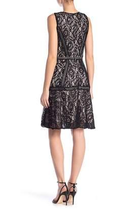 Taylor Lace Crew Neck A-Line Dress