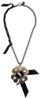 Lanvin Clover Pendant Necklace