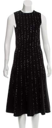 Jason Wu Bouclé Wool-Blend Dress Black Bouclé Wool-Blend Dress