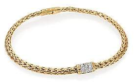 John Hardy Women's Classic Chain Mini Diamond & 18K Yellow Gold Bracelet