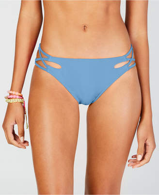 California Waves Solid Strappy Hipster Bottoms