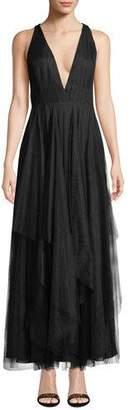Fame & Partners The Lana V-Neck Tulle Dress