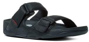 FitFlop Adjustable Strap Leather Slide Sandals