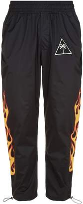 Palm Angels Palm Tree And Flame Trackpants