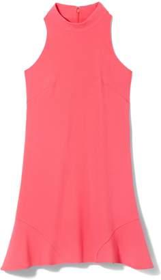 Vince Camuto High-neck Flounce-hem Dress