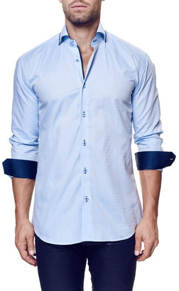 Maceoo Elegance Circle Long Sleeve Trim Fit Shirt (Big & Tall Available) $169 thestylecure.com