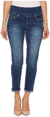 Jag Jeans Petite Petite Amelia Slim Ankle Pull-On Denim Jeans in Kodiak Blue Women's Jeans