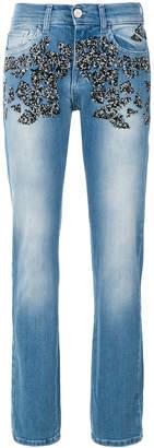 Frankie Morello Josephine embellished straight leg jeans