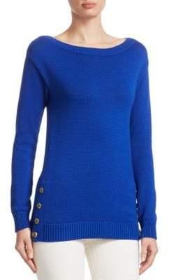 Ralph Lauren Long-Sleeve Button Sweater