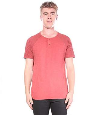 Lucky Brand Men's Colorblock Baseball Henley TEE Shirt