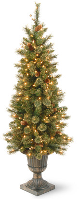 National Tree Company 4Ft Glittery Gold Pine Entrance Tree With Berries
