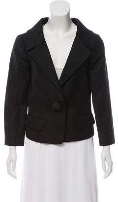 Giambattista Valli Linen & Wool-Blend Notch-Lapel Blazer