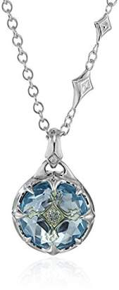 Judith Ripka Windrose Couture Pendant Necklace with Drop At The Back with Sky and Diamond Pendant Necklace