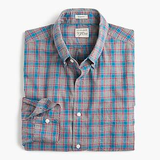 J.Crew Heather poplin shirt in red and blue check