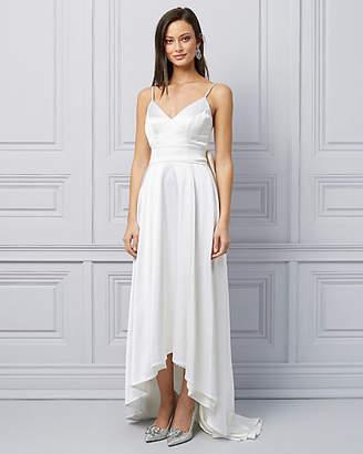 Le Château Satin Bow High-Low Gown