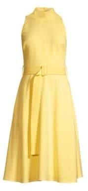 Black Halo Lylah Woven A-Line Dress