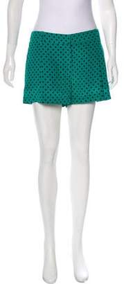 Prada High-Rise Silk Shorts