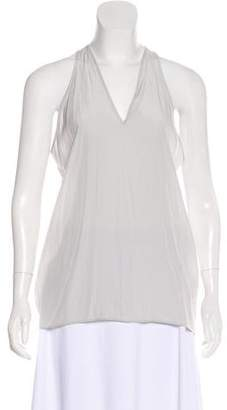 Helmut Lang Sheer V-Neck Top
