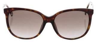 Gucci Tortoiseshell Oversize Sunglasses